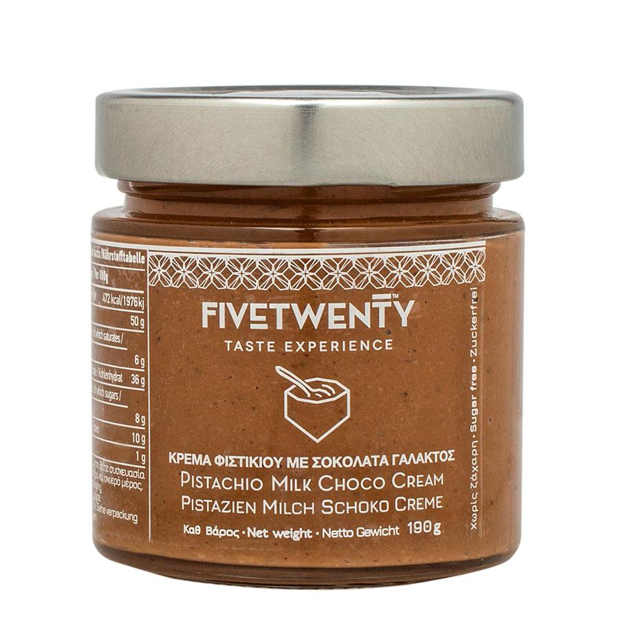 Κρέμα φιστικιού με σοκολάτα 190γρ χωρίς ζάχαρη - five twenty